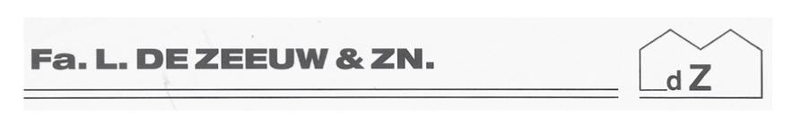 Firma L. de Zeeuw en Zoon